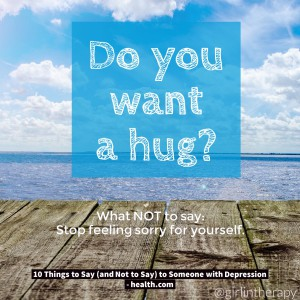 How to help someone in Depression - Do you want a hug