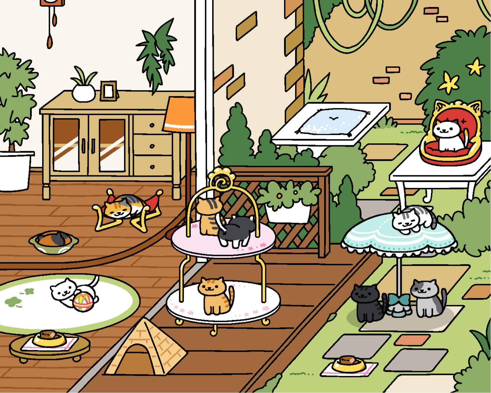 Neko Atsume update: Rustic Style Yard - Original