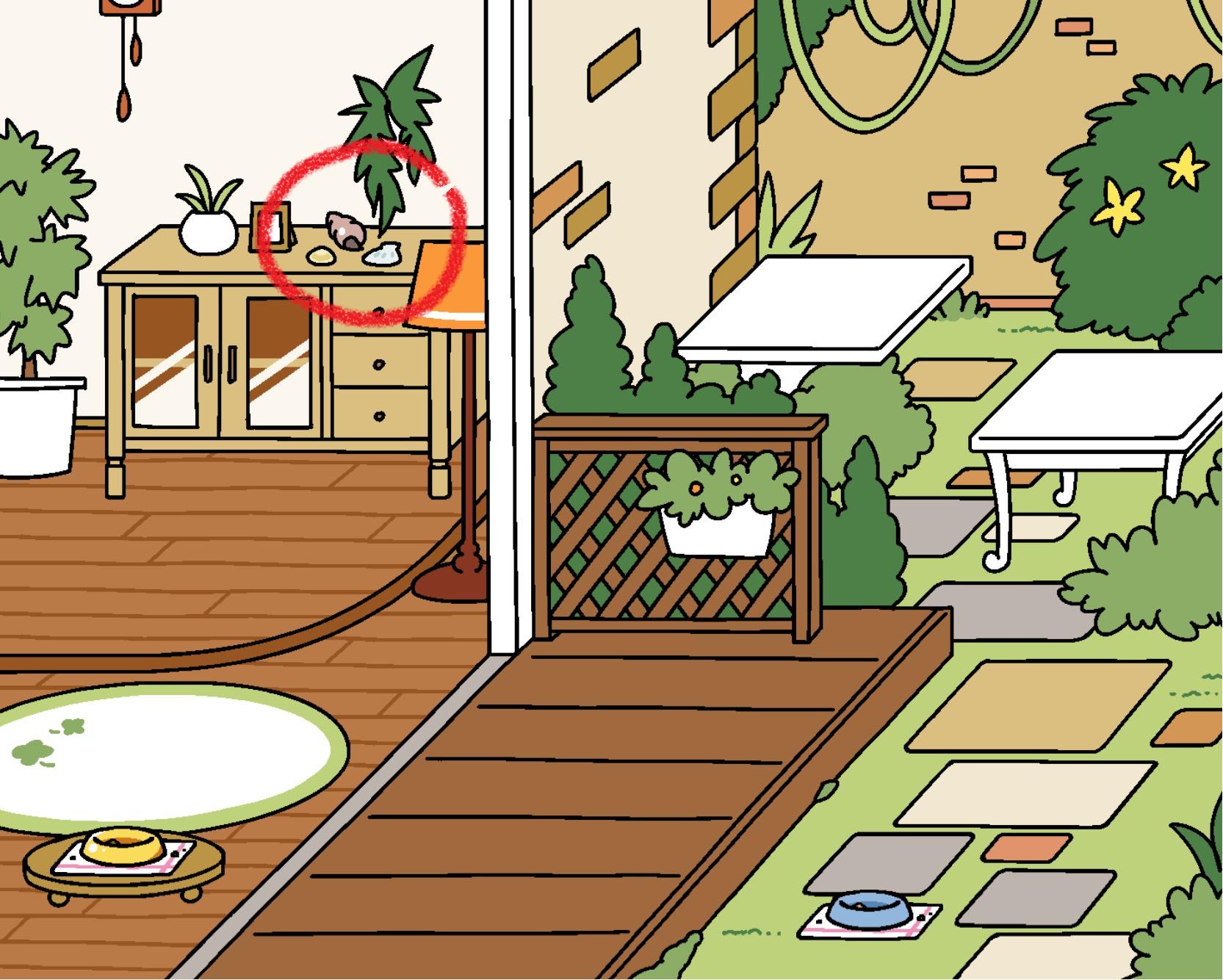 neko atsume update rustic style yard