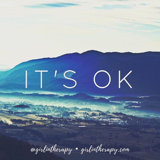 It's OK - Girl in Therapy