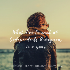 What Ive learned at Codependents Anonymous in a year
