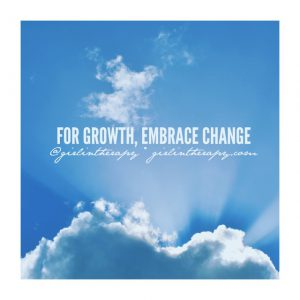 girlintherapy affirmation quote magnet For Growth Embrace Change