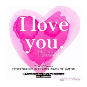 girlintherapy affirmation quote magnet I Love You