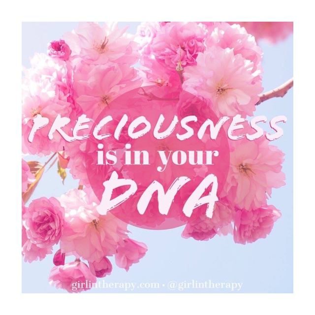 girlintherapy affirmation quote magnet Preciousness Is In Your DNA