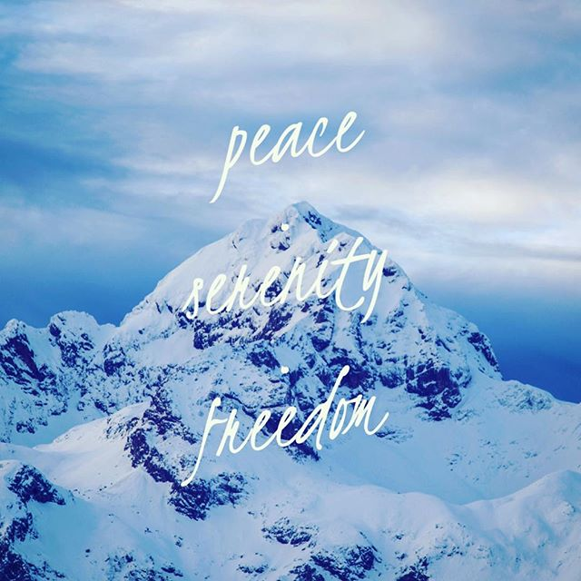 Peace Serenity Freedom - girlintherapy