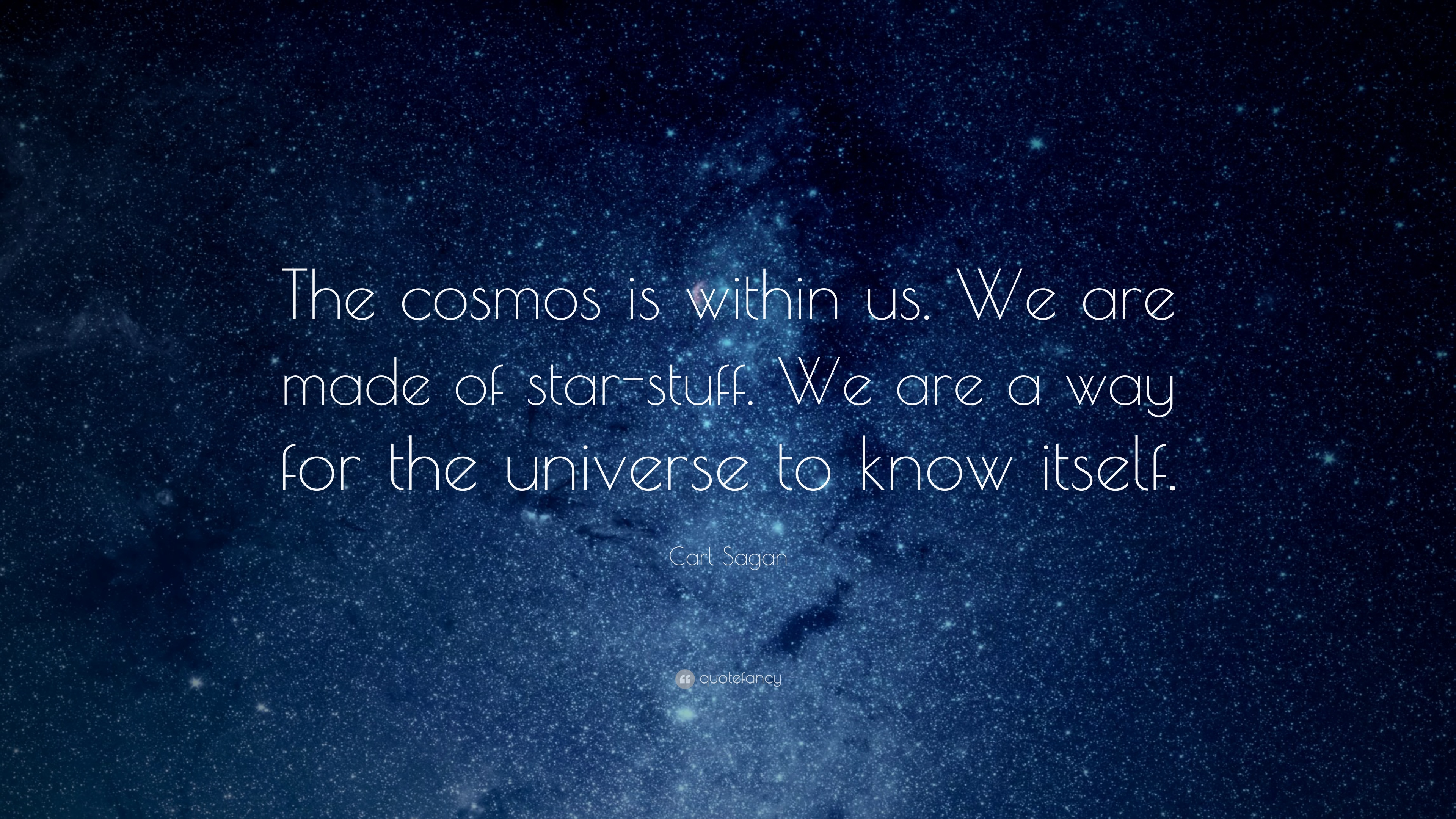 The cosmos is within us - Carl Sagan - girlintherapy