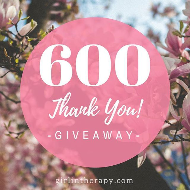 fb page milestone gratitude giveaway - girlintherapy