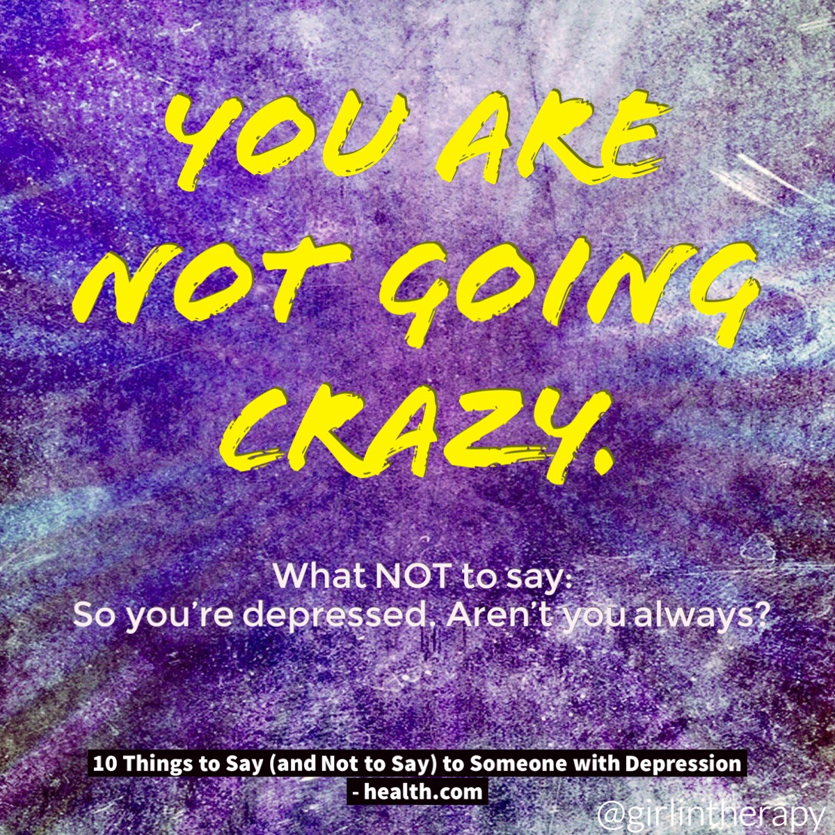 How to help someone in Depression - You are not going crazy