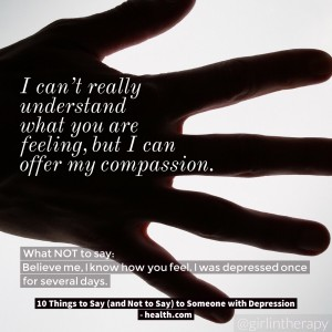 How to help someone in Depression - I can offer my compassion