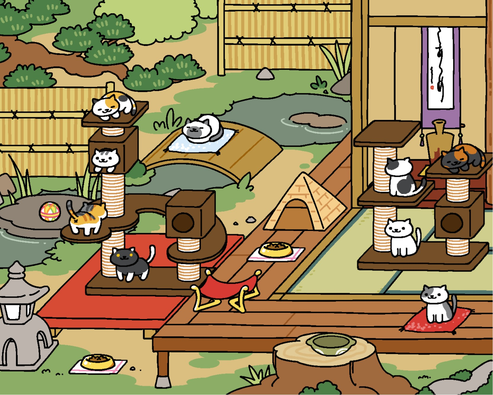 neko atsume update zen style yard original