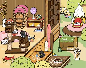 Neko Atsume update: Sugary Style Yard - Original