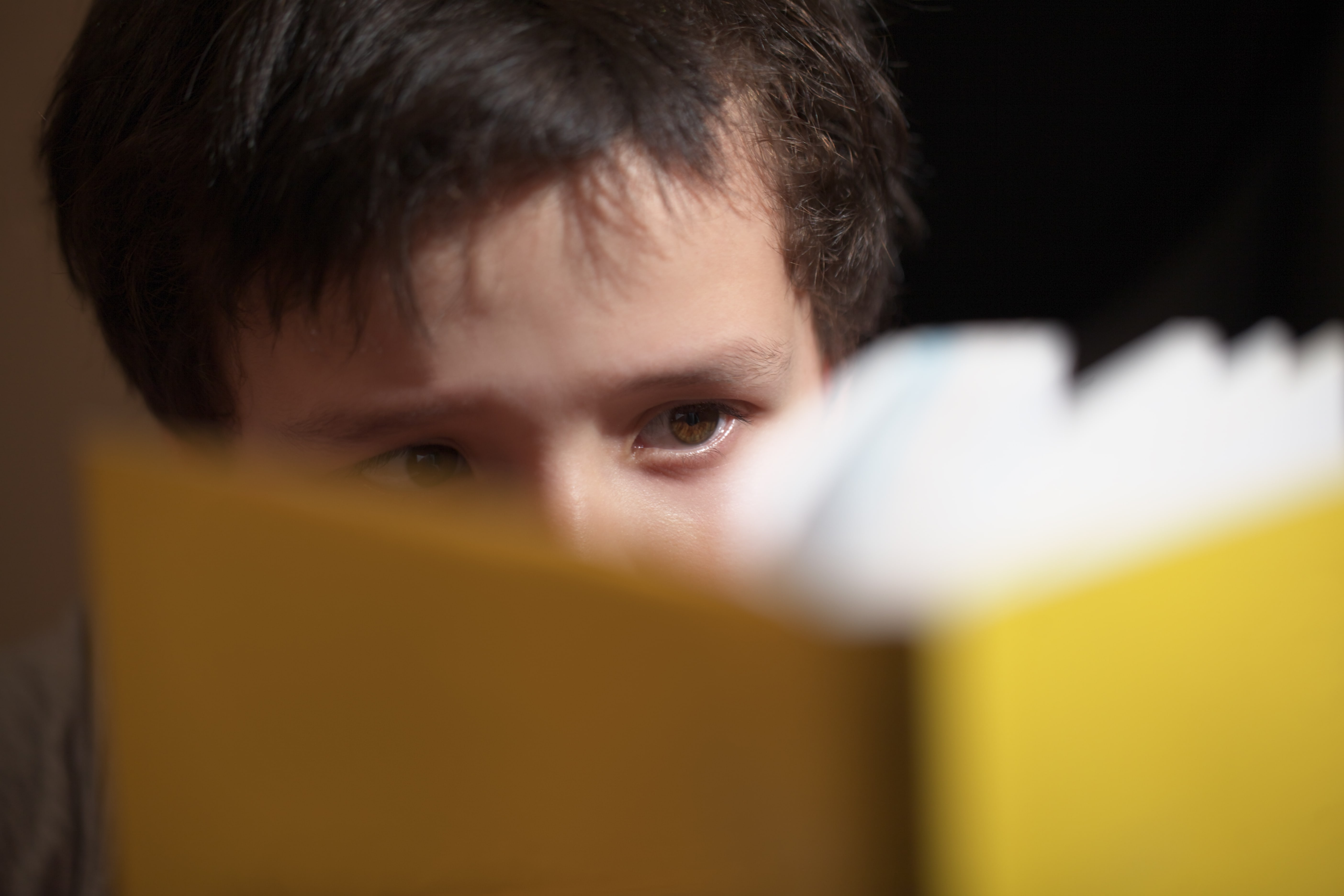 boy reading psychology book author
