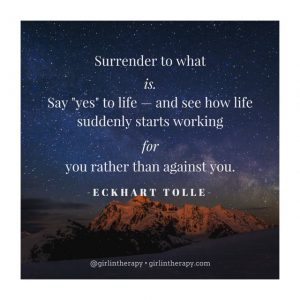 girlintherapy affirmation quote magnet Eckhart Tolle
