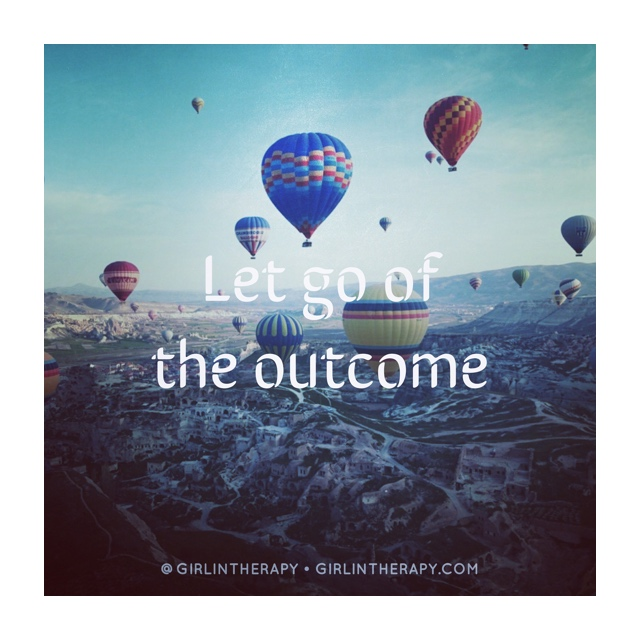 girlintherapy affirmation quote magnet Let Go Of The Outcome