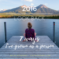 2016 look back 7 ways of personal growth