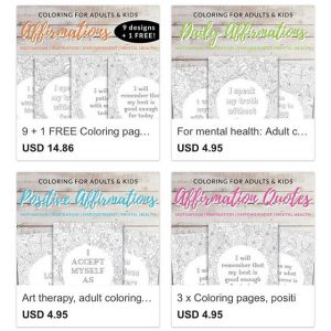 image about Printable Affirmations named Fresh new! Printable grownup coloring pageswith beneficial